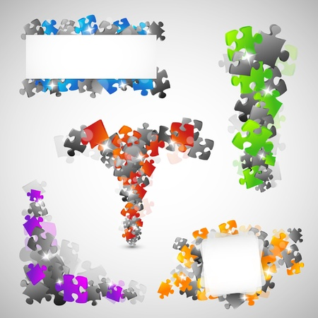 Puzzle Design elements Vector
