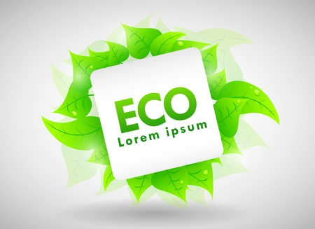 Ecology Design with place for text or logo Stock Vector - 11703759