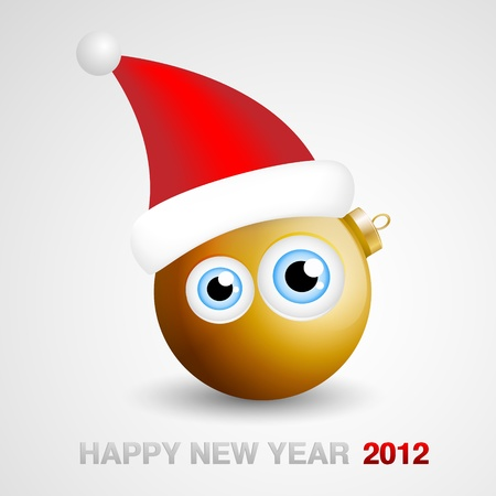 Funny New Year 2012 Mascot Stock Vector - 11703584