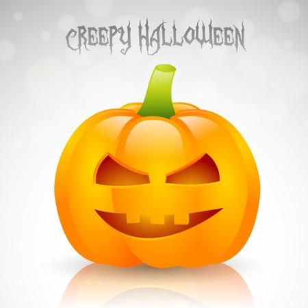 jack o   lantern: Halloween Pumpkin with evil face
