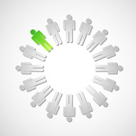 fila de espera: C�rculo de personas con un elegido