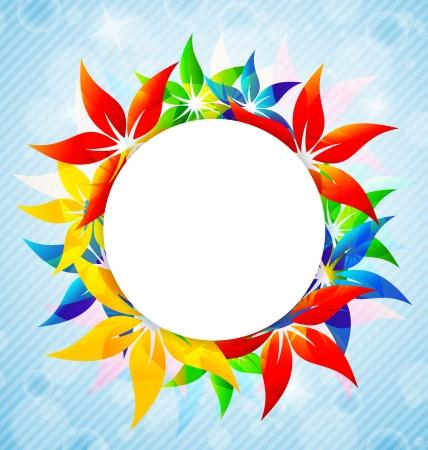 Flores de colores de diseño de tarjetas