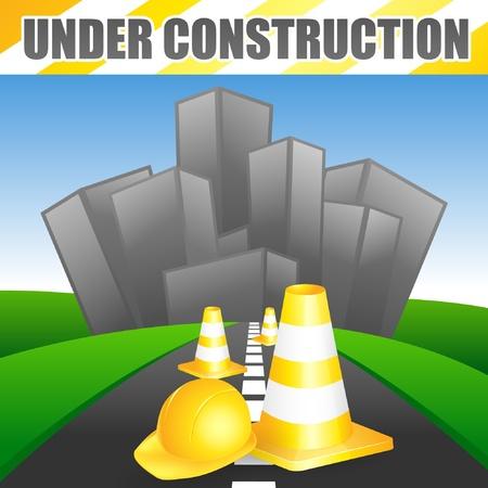 Road under construction Stock Vector - 11703645