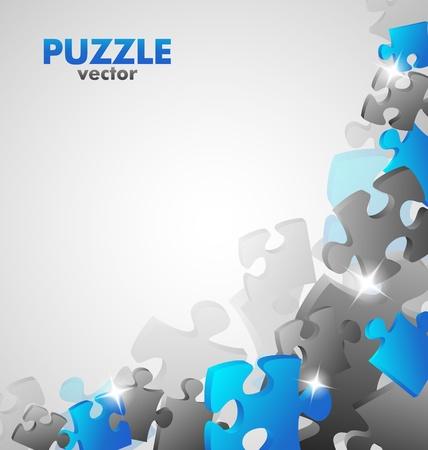 Puzzle Blue Design Illustration
