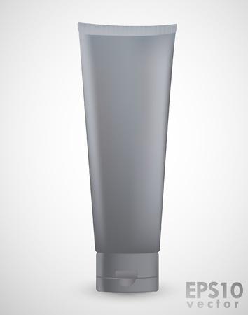cream tube: Gray Tube isolated on white