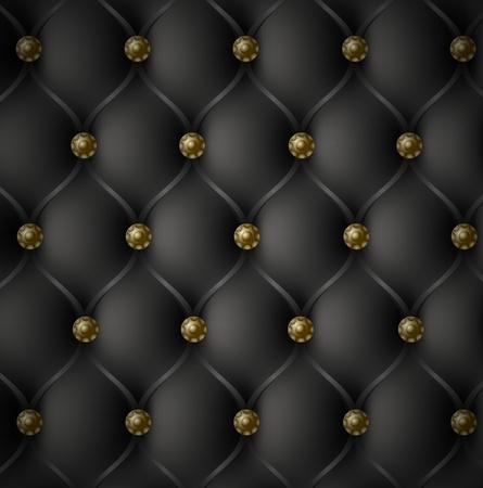 sofa viejo: Real Negro Textura de piel Vectores