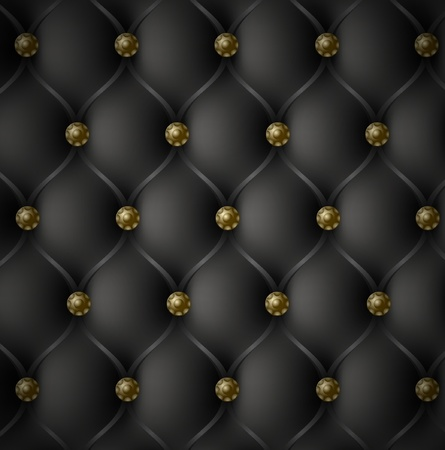 royal background: Royal Black Leather Texture Illustration