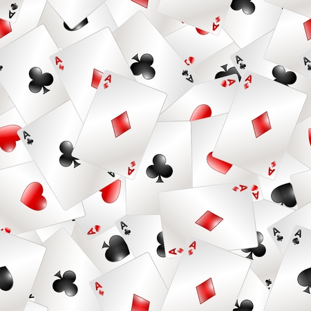 Poker Aces Seamless pattern Vector