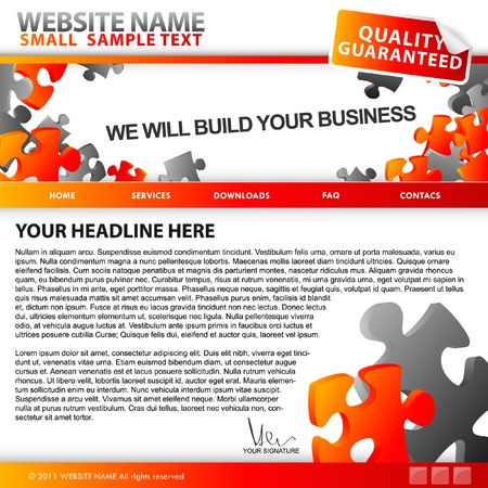 Puzzle website template Stock Vector - 11703695