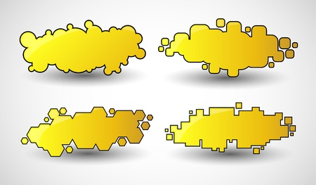 keywords bubble: Text Frames design elements Illustration