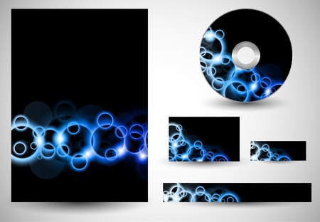 Blue Flare Circles BusinessTemplates Vector