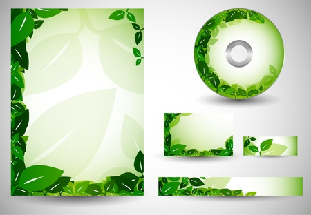 Ecology Business Templates Vector