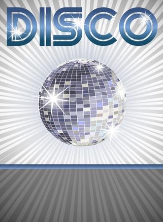 disco parties: Disco Cartel con lugar para el texto
