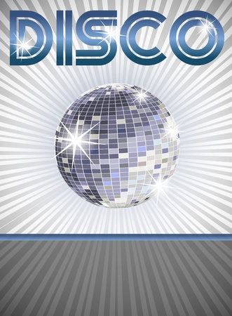 Disco Poster with place for your text Vector
