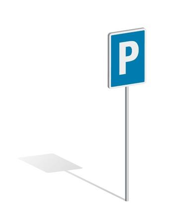 carpark: Car-Park Traffic Sign Illustration