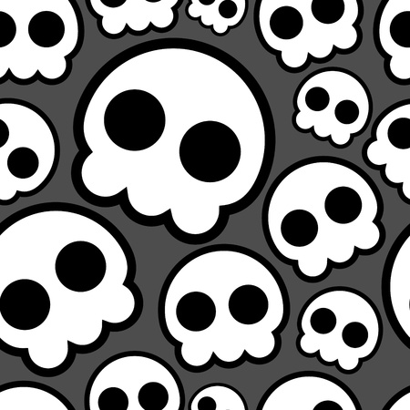 Seamless skull emo pattern Vector