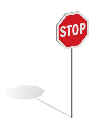 Stop traffic sign Stock Vector - 11703559