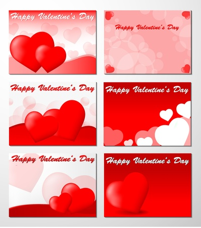 Set of Six Valentine Stock Vector - 11703635