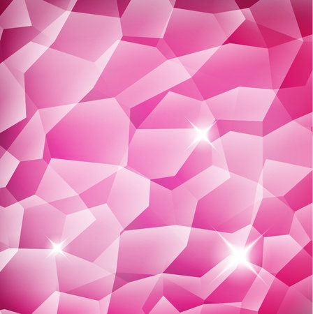 Pink Crystal structure background with reflection Vector