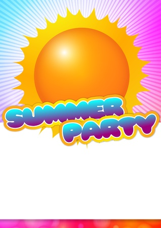 Summer Party Poster with place for text Vector