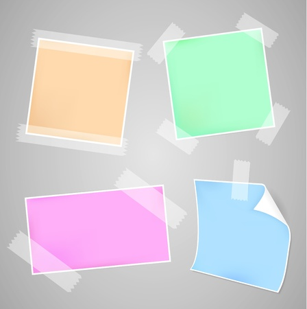 Four Colorful Messages papers set Vector