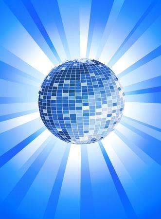 Disco Theme with disco ball Vector