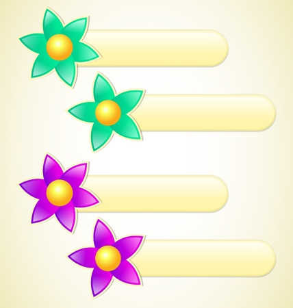 Flower Labels with place for your text Vector