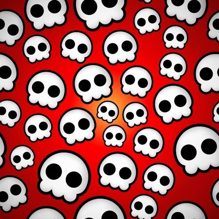 Seamless skull emo design texture Illustration
