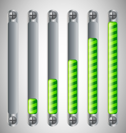 Metal Loading Bar with screws Vector