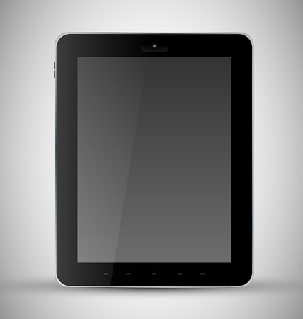 Common Black Tablet with webcam Vector