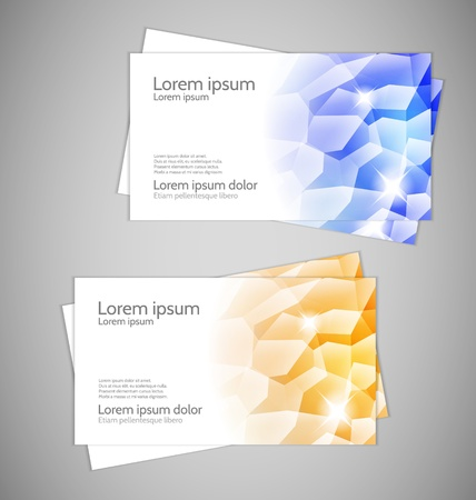 gold mine: Abstract Modern Business cards with crystals Illustration