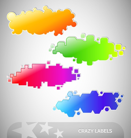 Four Colorful Labels set with palce for your text