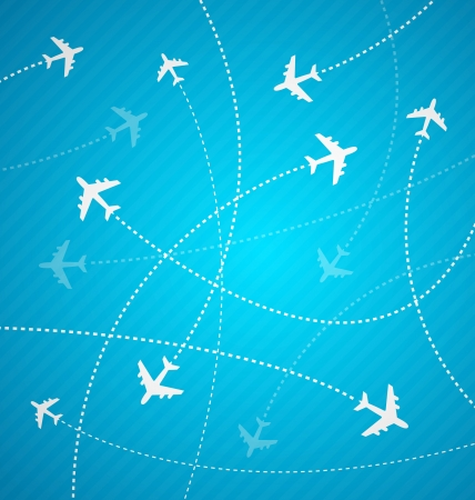 Blue Planes background with strippes Vector