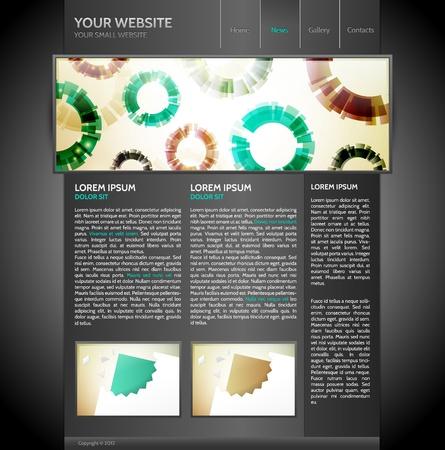 Modern and Elegant Black Website Template Stock Vector - 13582800