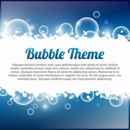 Bubble Theme blu con posto per il testo