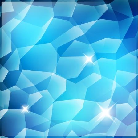 Blue Crystal Background with shine Illustration