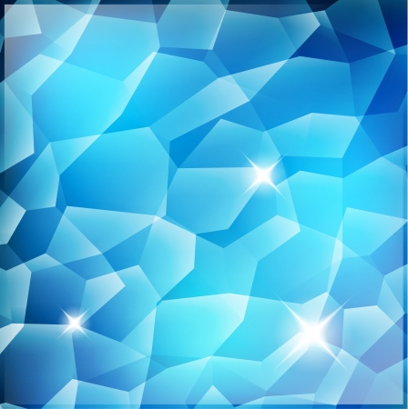 diamond in the rough: Blue Crystal Background with shine Illustration