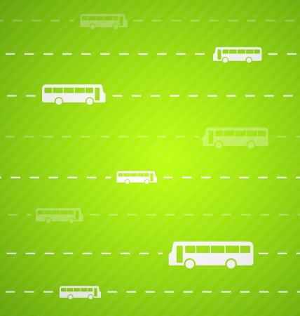 Green Bus abstract background with stripes Vector