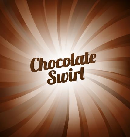 Tourbillon de chocolat - fond brun