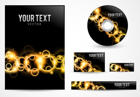 Graphic Business Layout with place for logo and text Stock Vector - 13991546
