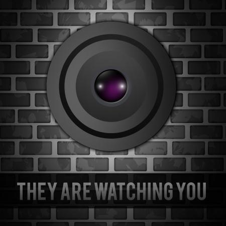 brat: Kamera na szarym murze cegieł