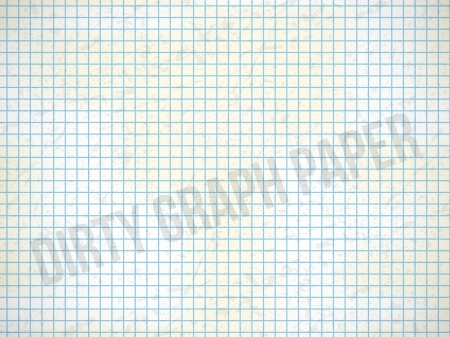 discolored: Dirty Graph Paper with blue lines