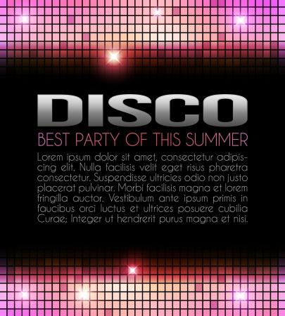 Disco Party Diseño amarillo y rosa