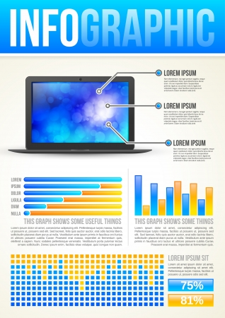 data collection: Technology Infographic Template with graphs