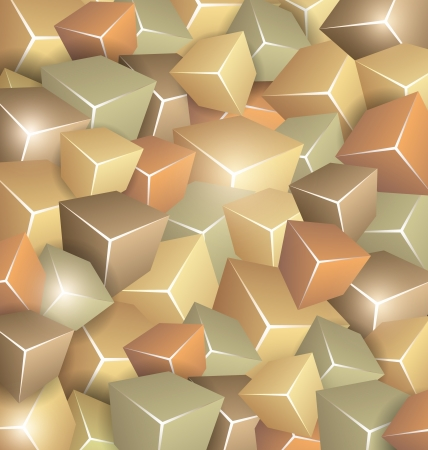 Background made of Retrol Cubes Vector