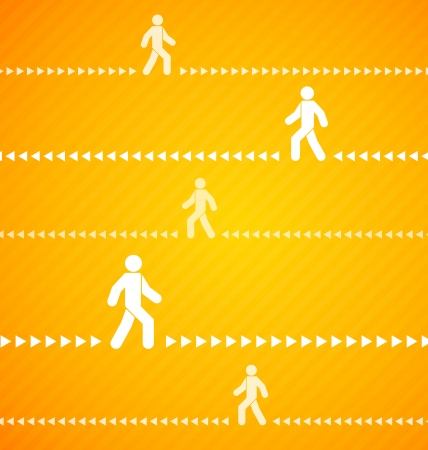 pedestrian walkway: Yellow Walking people background with stripes