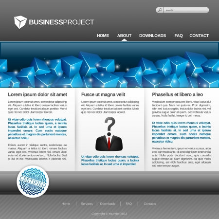 Modern and Elegant business Website Template Stock Vector - 14632731