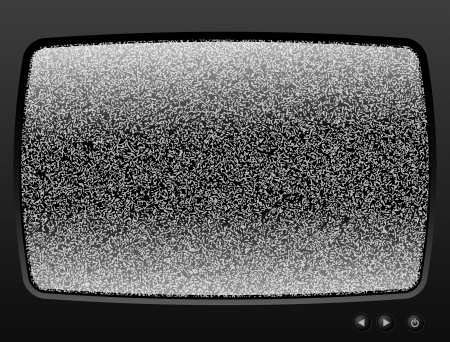 Old Television with grain closeup Vector