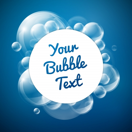 Blue Theme Bubble z miejsca dla tekstu