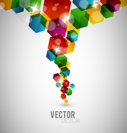 Abstract hexagon design with many colors Stock Vector - 15689602